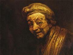 Selbstbildnis von Rembrandt aus dem Jahr 1663