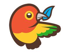 das Bower Logo, ein Vogel