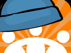 Das Webkrauts-Logo zu Ehren des Blue-Beanie-Days mit einer blauen Kappe verziert