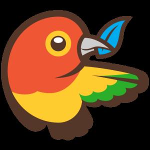 das Bower-Logo. Ein Vogel.