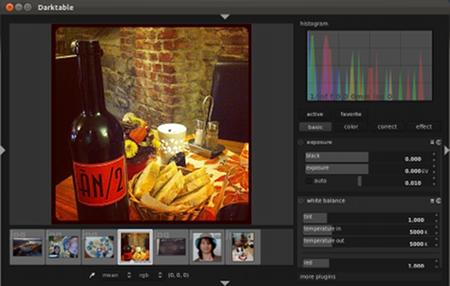 Screenshot: Darktable