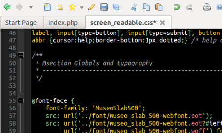 Screenshot: Komodo Edit