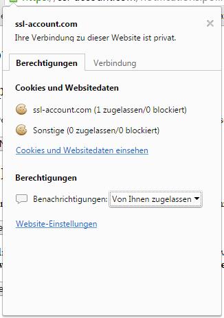 Berechtigungseinstellungen in Google Chrome auf dem Desktop